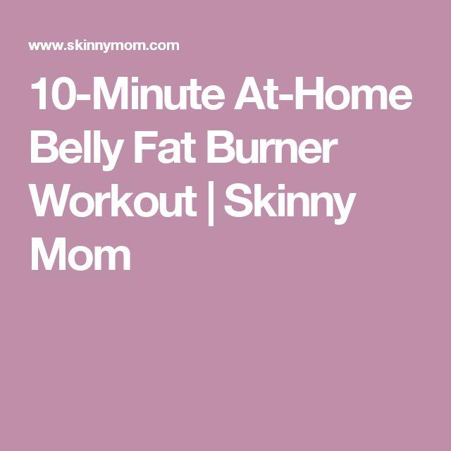 10-Minute At-Home Belly Fat Burner Workout | Skinny Mom