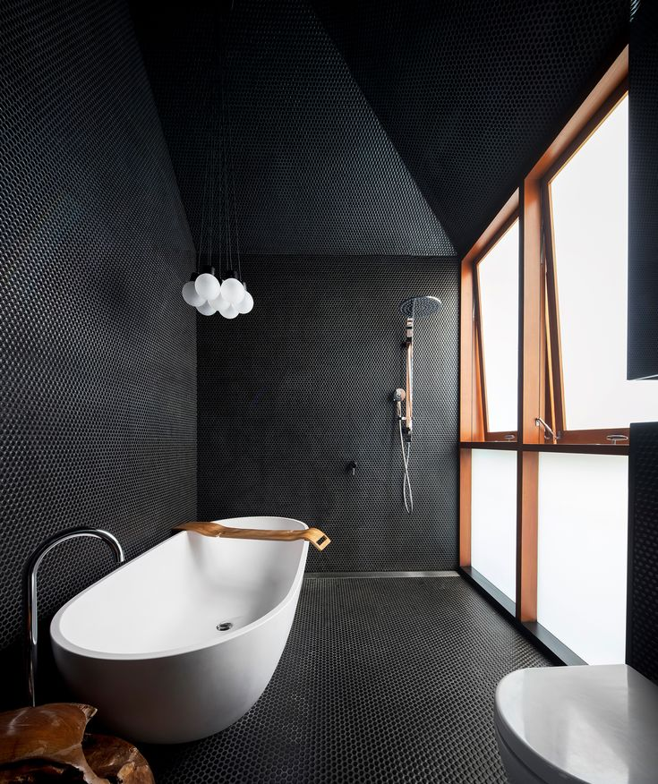 This Bathroom, In A Renovated Workeru0027s Cottage In Sydney, Is The Definition  Of Dramatic