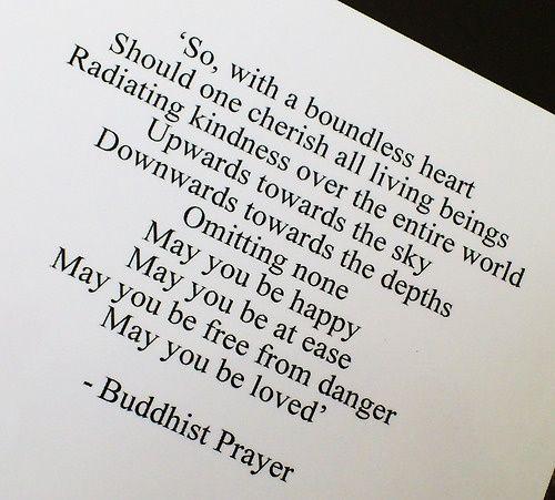 buddhist prayer for love | Mindful Musings: My Simple Buddhist Prayer.