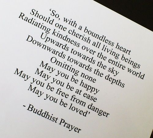 buddhist prayer for love | Mindful Musings: My Simple Buddhist Prayer.