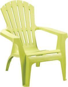 Sedia Impilabile Dolomiti Verde Lime 73x76x86 Plastica Terrazza Poltrona