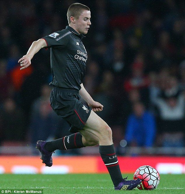 Jordan Rossiter was handed his Barclays Premier League debut for Liverpool against Arsenal...