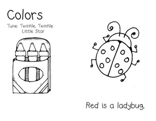 Cute song book for learning colors