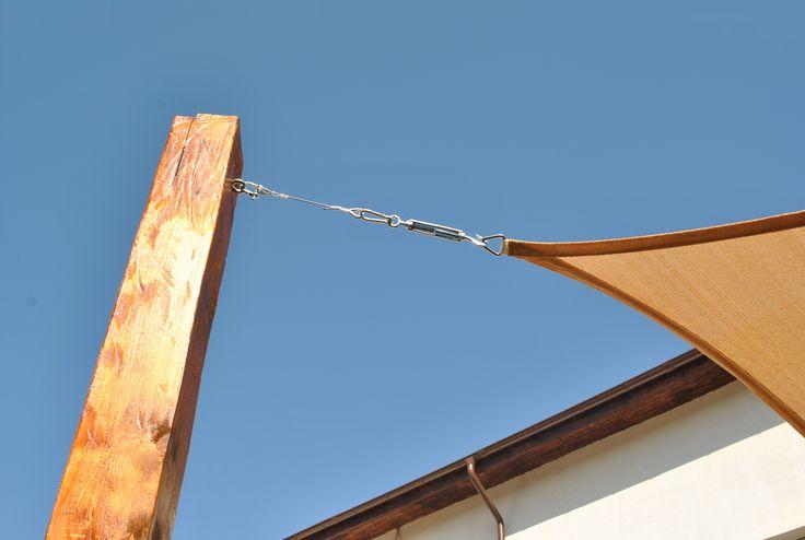 sistemul de prindere al prelatelor de soare garanteaza siguranta in orice conditii.