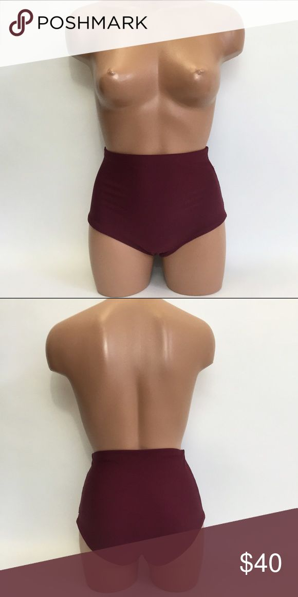 High waist swimsuit bottom maroon Brand new. No tags. Fully lined lucybea.com Swim One Pieces