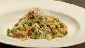 Pea and Bacon Risotto   Recipe   TVs, New zealand and Bacon