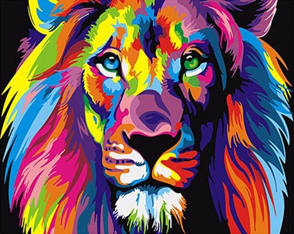 DIY Lion Painting