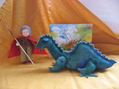 Atelier de Vier Jaargetijden naturetable Michaël seizoentafel Michaël waldorf inspired antroposofisch Joris en de draak