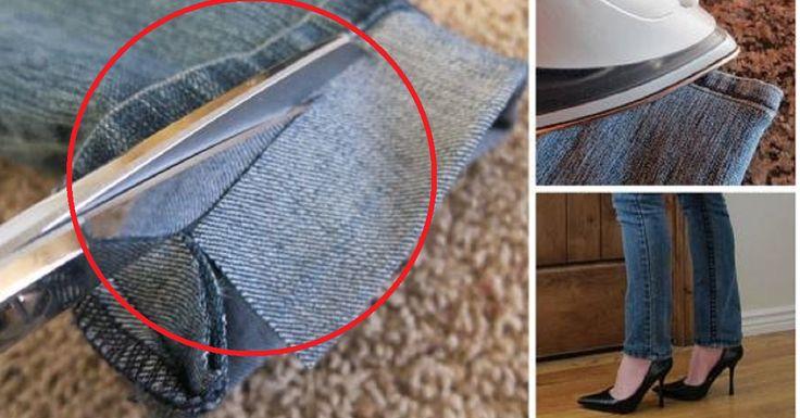 Grâce à cette technique, vous n'allez plus payer pour faire un ourlet à votre jeans trop long!