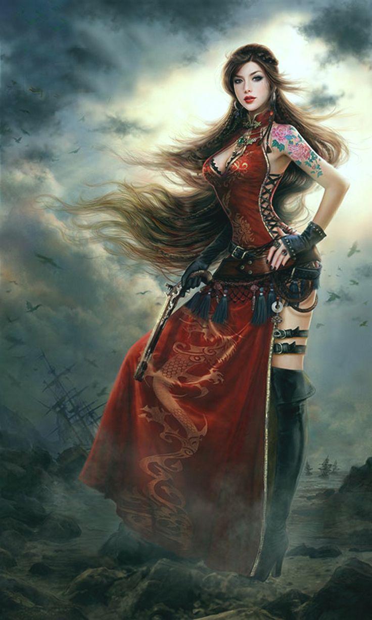 Pirate wench art bing images fantasy art fantasy art - Fantasy female warrior artwork ...