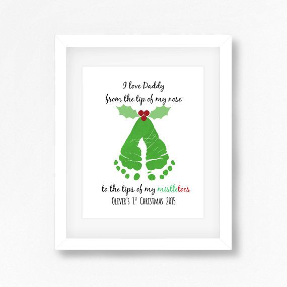 Daddy Christmas Gift from Baby Daddy's 1st by PerfectLittlePrints
