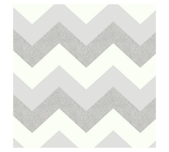 Buy Arthouse Glitterati Chevron Wallpaper - Platinum at Argos.co.uk, visit Argos.co.uk to shop online for Wallpaper, Wallpaper, painting and decorating, Home improvements, Home and garden