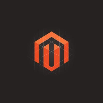 Magento Logo Design. I really like this logo because the shapes itself is not what makes the logo look complex. It is in the lighter shade of orange and the play on lines that makes this image look complex and 3D.