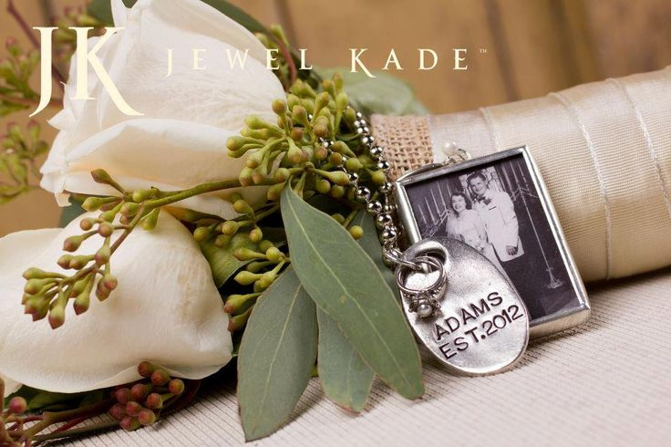 jack tag with black and white photo charm memory