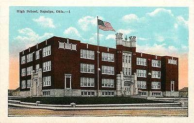 Sapulpa Oklahoma OK 1920s High School Collectible Antique Vintage Postcard