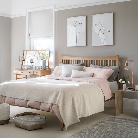 Ideal Home Magazine Grey, warm taupe, blush pink, copper
