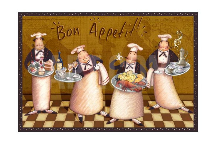 chef.quenalbertini: Bon Appetit Art Print by Viv Eisner at Art.com