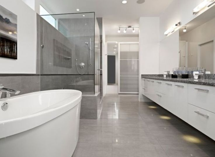 Bathroom Modern Grey Bathroom Elegant Floor Tiles Marble