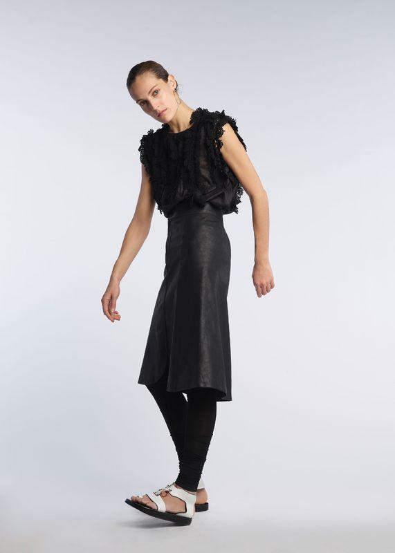 Czarne legginsy Isabel Marant Pre-Fall 2017