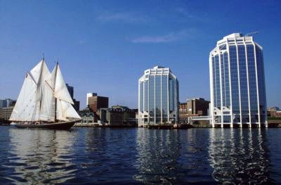 Halifax Harbour, NS, The Bluenose sailboat
