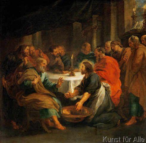 Peter Paul Rubens - Die Fußwaschung