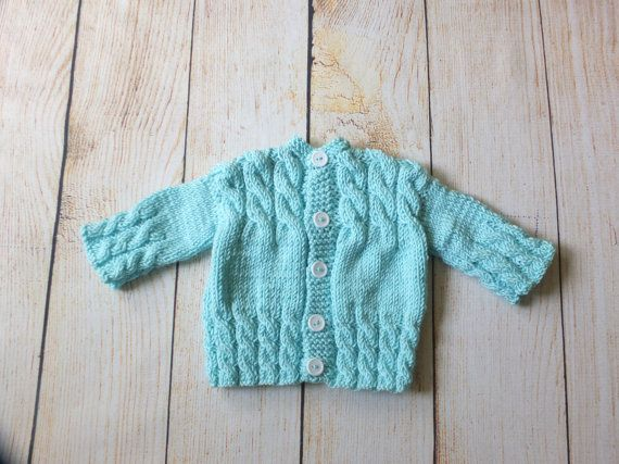 Hand knitted baby sweater  Baby cardigan  Knit by HandmadebyInese