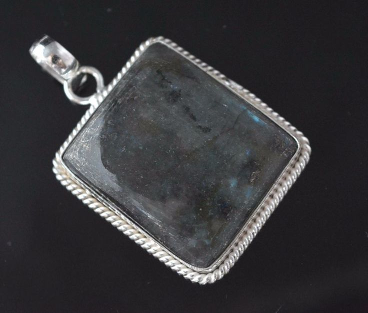 Natural Flashy Labradorite Sterling Silver Plated Pendant Xmas Gift For Her F53 #valueforbucks #Pendant