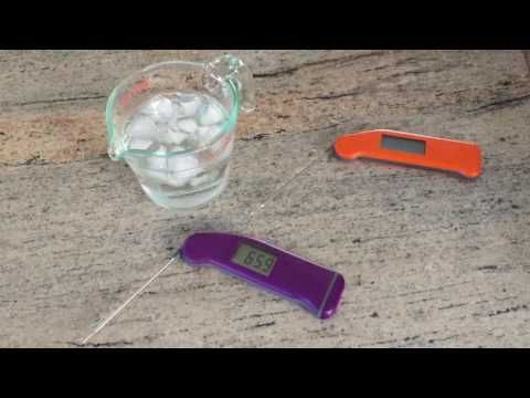 Thermoworks Thermapen Reviews - BBQ Thermometers - A video review of the Thermapen Mk4 vs the classic Thermapen.  Mrs. Grilling24x7 dunks the whole Mk4 into an icebath!