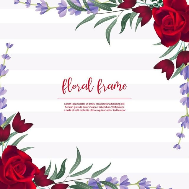 Floral Frame Background Abstract Rose Flowers Png And Vector With Transparent Background For Free Download Frame Background Floral Frame Download