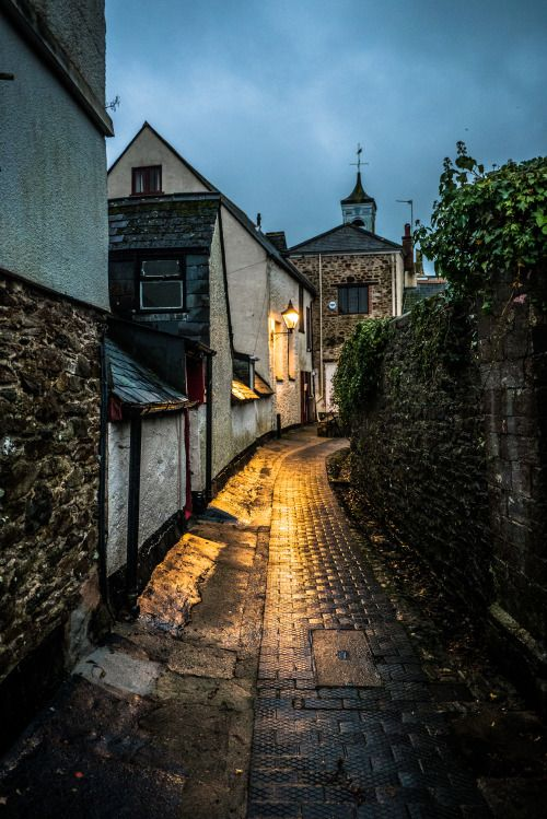 ganymedesrocks: antoniusthegr8: Alleyway in Totnes Devon, UK No Climate Change…???!!!Emerged out of the night, yet with more weather instability to come… even in Dordogne, France, where Spring is usually the deliverer of sunny days…