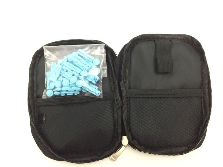 Diabetic Travel Pouch For AccuChek Contour And so on Included 30ea Lancet  #Brandnew