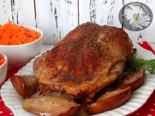 Kulinarne szaleństwa Margarytki: Pierś z gęsi pieczona z gruszkami