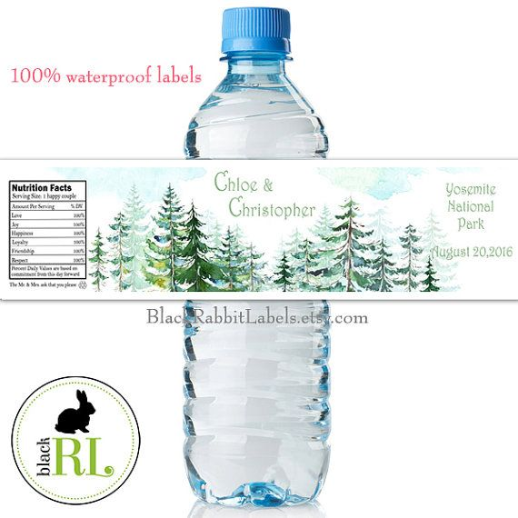 Best Water Bottle Labels Images On Pinterest Bridal Shower - Free personalized water bottle labels template