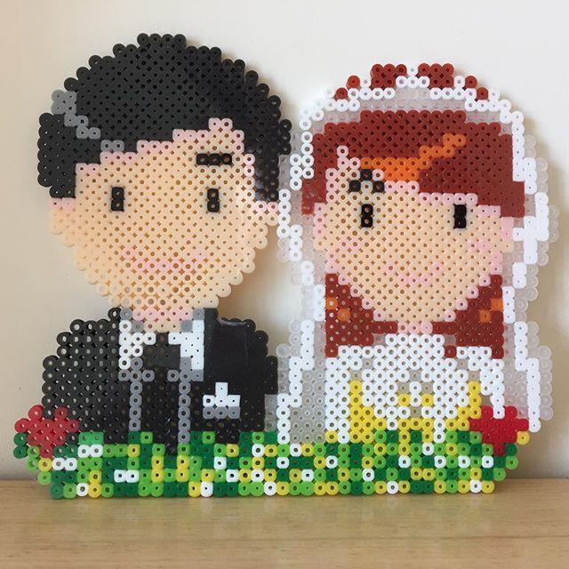Wedding perler beads by mushroomwashere