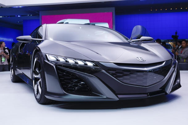 Updated Acura NSX concept steals the show from the MDX. #detroitautoshow