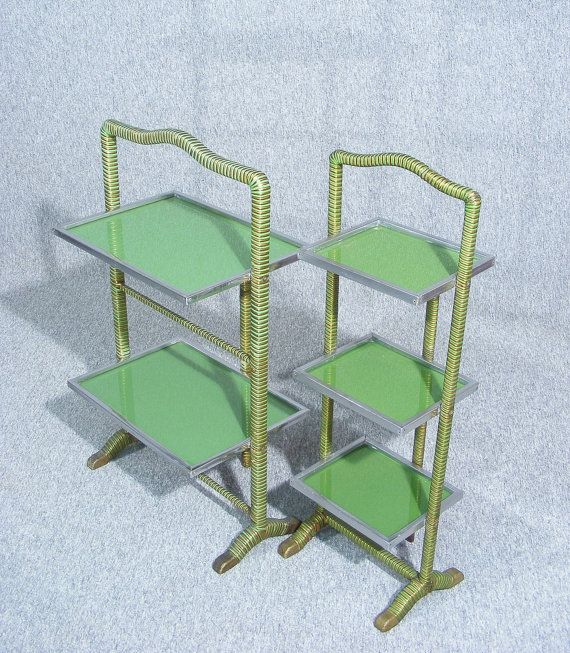 Pair Of Art Deco Cake Display Stands by Antiquesonlineorg on Etsy
