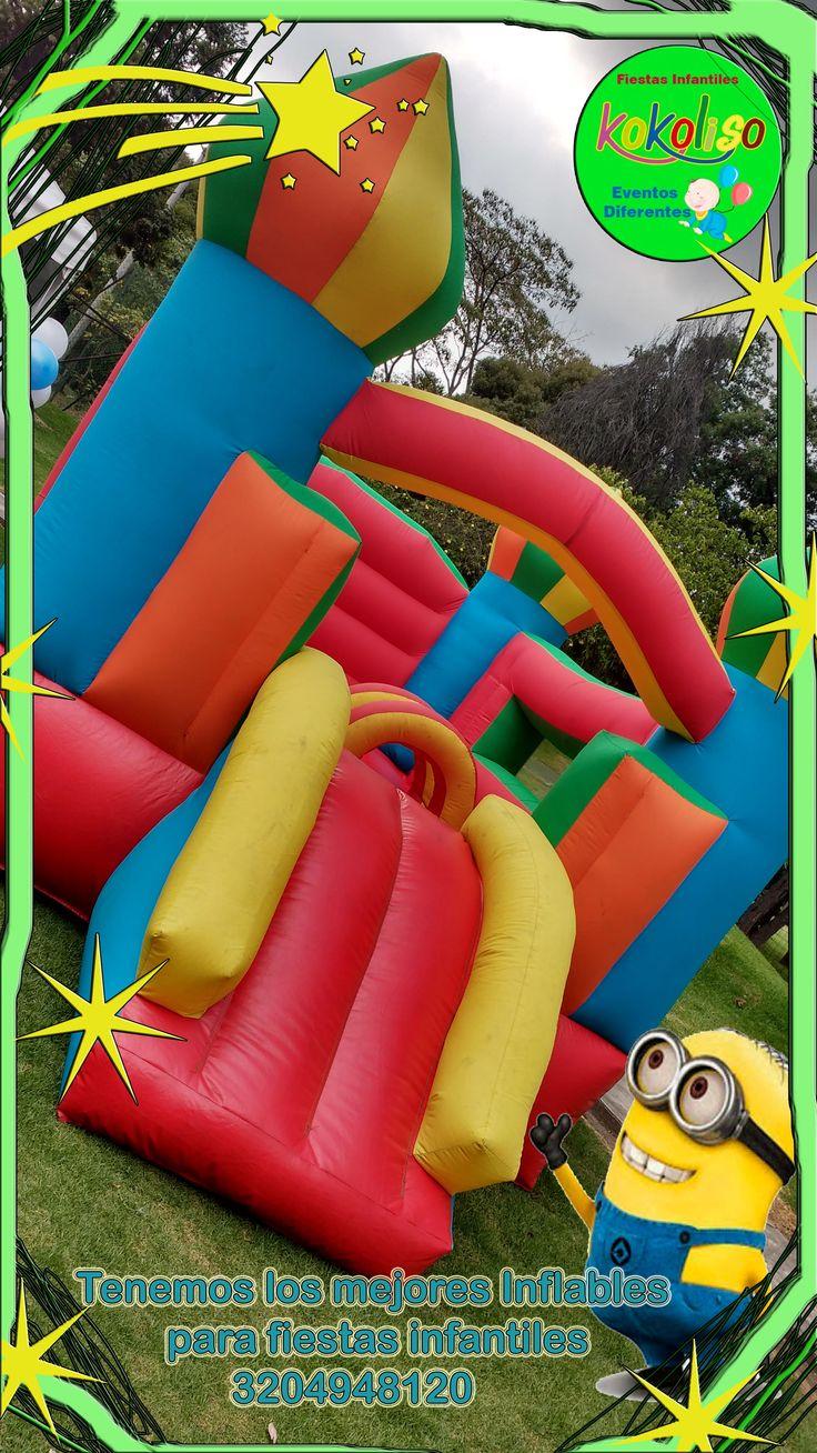 Tenemos fantásticos saltarines para fiestas infantiles a precios especiales llámanos 3204948120-4119497 #fiestasinfantiles #saltarines #inflables