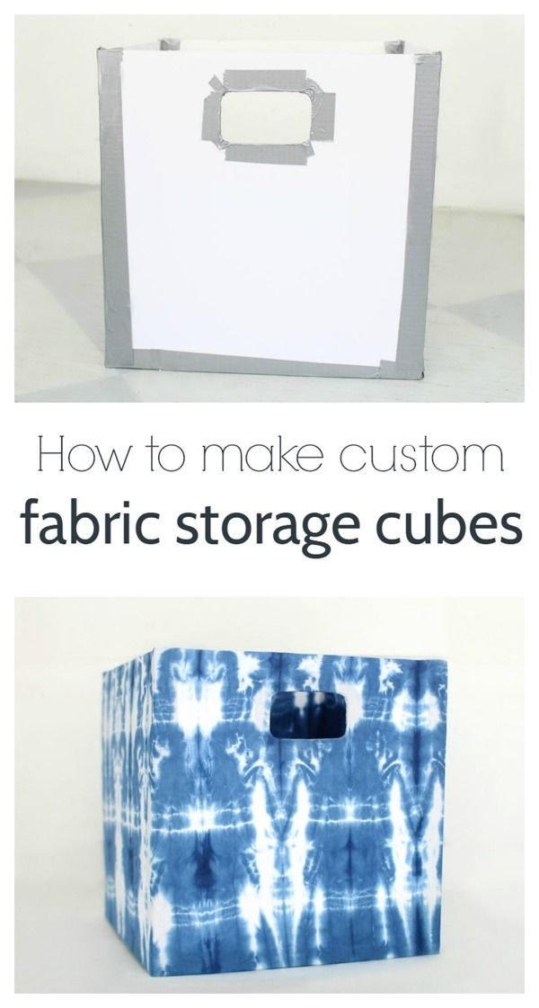 how to make custom fabric storage cubes, step by step tutorial to make your own DIY fabric storage boxes