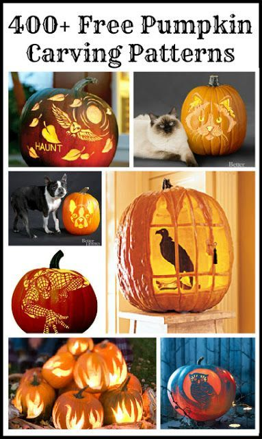 Updated for 2015! 400 Free Pumpkin Carving Patterns & Templates - there are some great ones in this post!