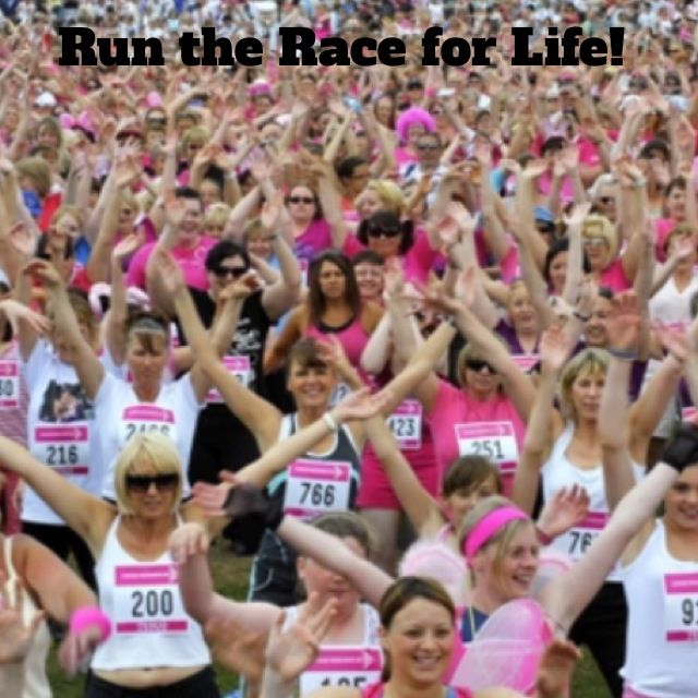 Run the Race for life! this must feel so good with everyone running beside you!