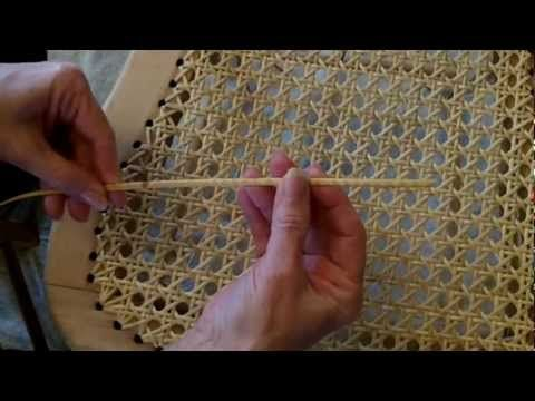 How to re-cane a chair Part 1 uploaded to youtube by wickerguru