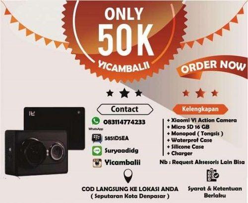 YI CAM BALI adalah toko Penyewaan Action Cam Xiaomi online terpercaya yang menyewakan yi cam dengan harga murah dan terjangkau yang berada di kota denpasar-bali. Untuk brother and sista yang ingin menyewa Yi Cam kami dapat menghubungi kami di : WA / Telp : 0831 1477 4233 Line : Yicambalii Line : suryaadidg BBM : 5851D5EA Admin on 24 jam lho Harga Sewa Yi Cam Bali 50 K / Hari 330 K / Minggu Mau Diskon info admin langsung ada promo tiap bulannya :) COD ( Cash On Delivery ) KAMI L...