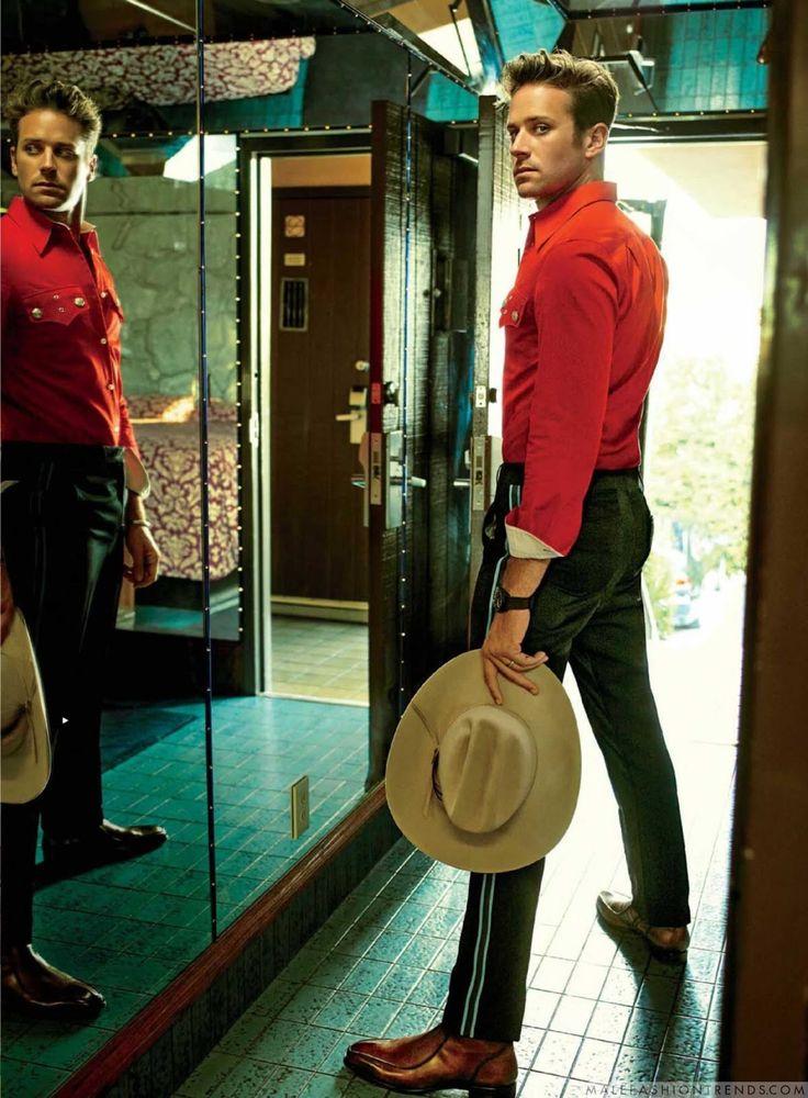 Male Fashion Trends: Armie Hammer posa en dinámicos looks para GQ US