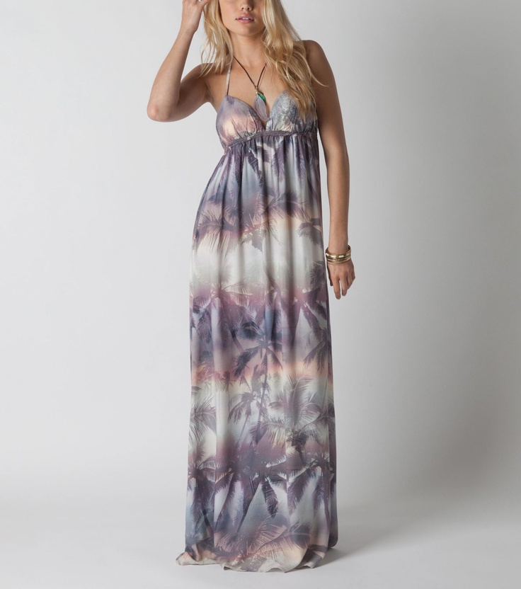 O'Neill 1952 tropical maxi dress at Red E Surf. This dress is perfect for summer nights! #lovesummer, maxi dress the current trend, i should have one in my wardrome!