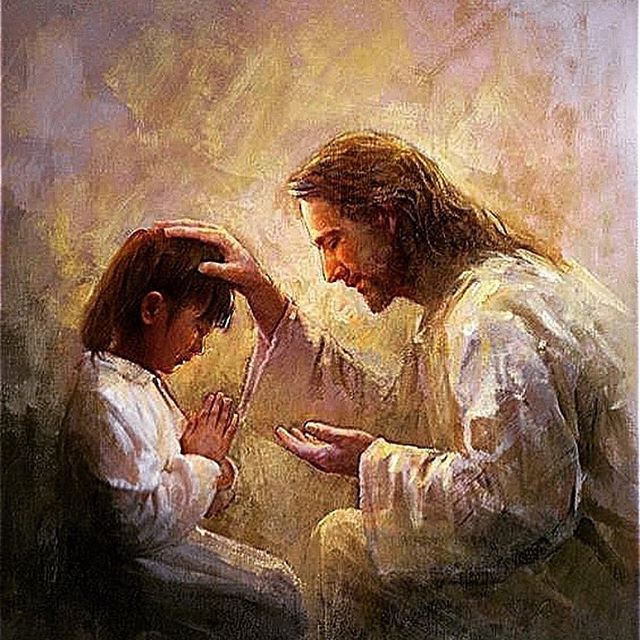 Jesus Blessing a child