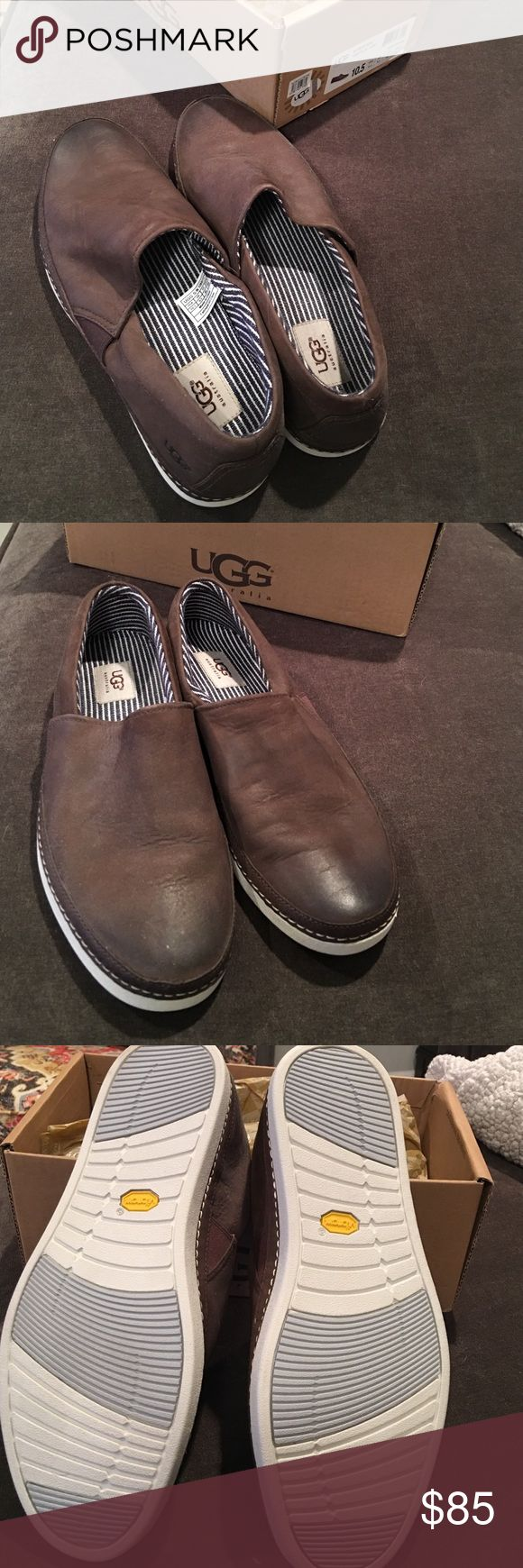 Men's Ugg Shoes Brand new never been worn. Only missing the top of the box. Got them for my dad but he never wore them. UGG Shoes Loafers & Slip-Ons