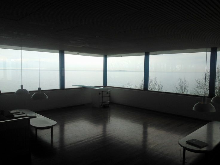 Louisiana Museum, Humlebæk, Denmark - the corner room view