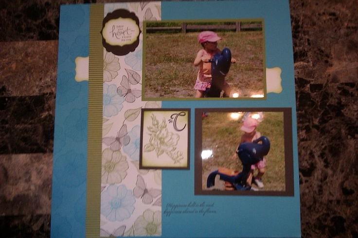 All stampin up products! Love the frames.