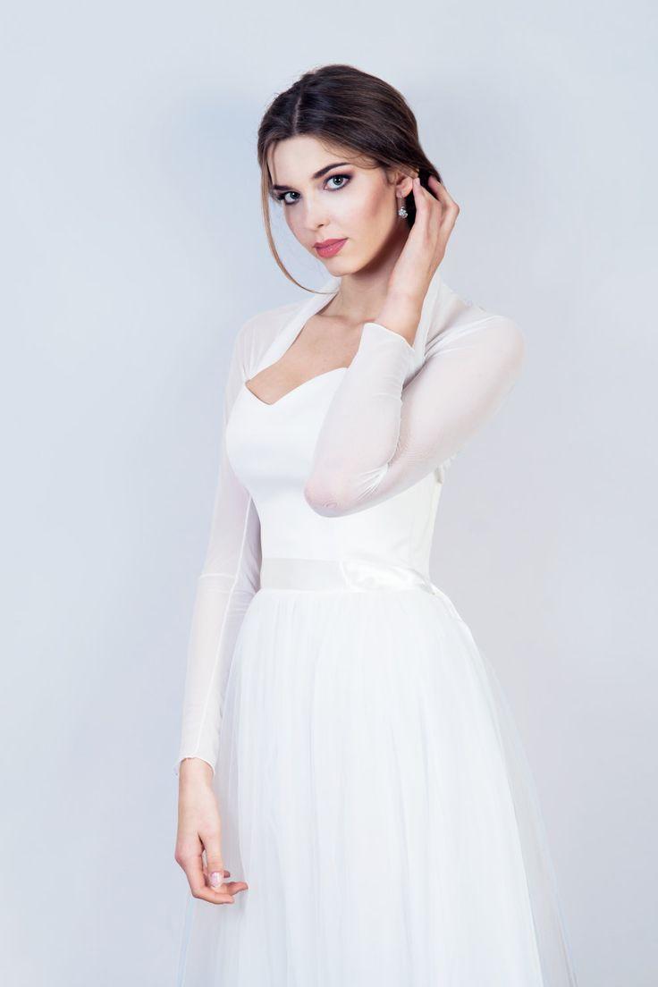 bolro en tulle simple bolro en tulle lastique bolero mariage 34 - Bolero Mariage Blanc