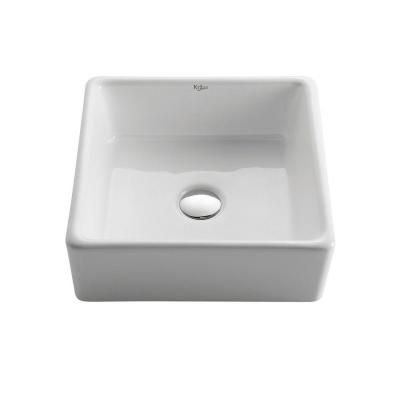 Kraus Home Depot : KRAUS Vessel Sink in White-KCV-120 at The Home Depot